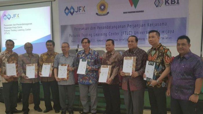 JFX, KBI dan Rifan Financindo Hadirkan Pusat Belajar Futures Trading di Kampus Universitas Sriwijaya