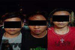 Polres Minahasa Tiga Tersangka Pencuri Tabung Gas di Langowan