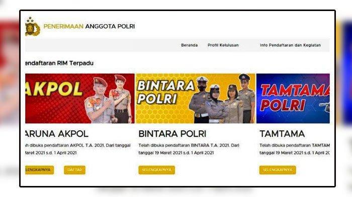 SIMAK Cara Daftar Masuk Polisi Tahun 2021, Taruna Akpol, Bintara & Tamtama Polri,Ini Info Lengkapnya