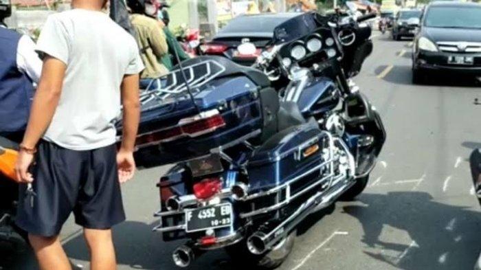 Kecelakaan Pengendara Moge Harley Davidson Tabrak 4 Kendaraan, Ini Kronologinya