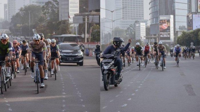 Halangi Jalan, Pengendara Motor Ini Acungkan Jari Tengah ke Pesepeda Road Bike, Wagub Angkat Bicara