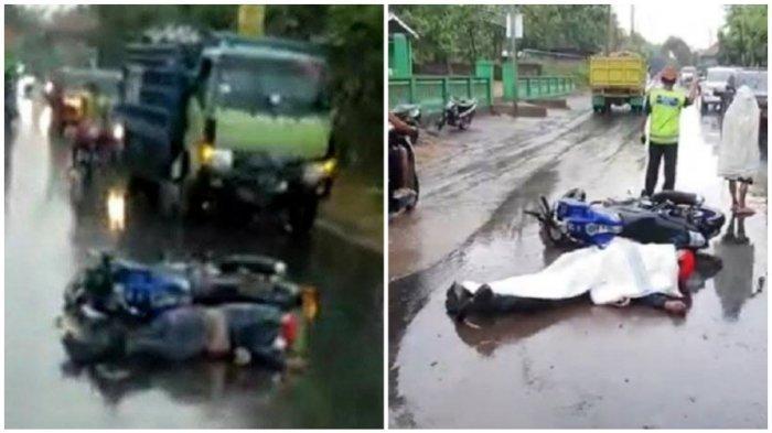 Kecelakaan Maut Tadi Sore, Pengendara Motor Vixion Tewas di Tempat, Korban Jatuh Terbentur Keras