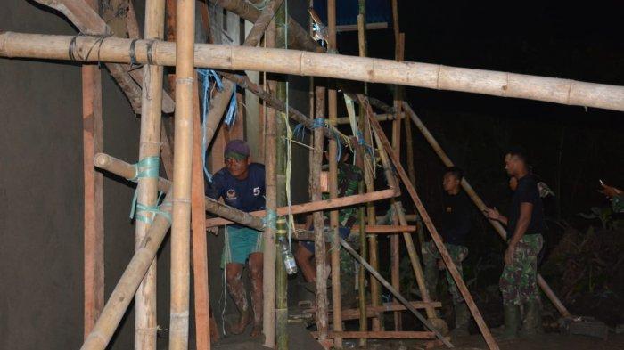 Pembangunan Kantor Tiga Pilar Desa dan Fasum Terus di Genjot Satgas