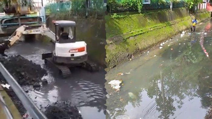 Hujan di Manado, Material Sedimentasi Sebabkan Pendangkalan di Anak Sungai Tikala