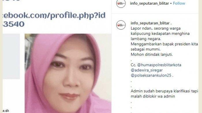 Begini Nasibnya Wanita Penyebar Foto Mumi Berwajah Jokowi
