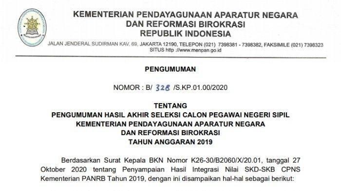 Login sscn.bkn.go.id Untuk Ajukan Sanggahan Hasil Akhir CPNS 2019, Berikut Caranya