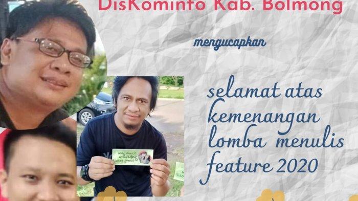 Wartawan Tribun Manado Arter Rompis Juara Pertama Lomba Feature Peringatan Hut RI Diskominfo Bolmong