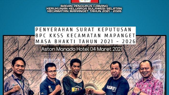 Terima SK Pengurus KKSS Mapanget - Manado, Herianto: Ini Menambah Semangat Kami