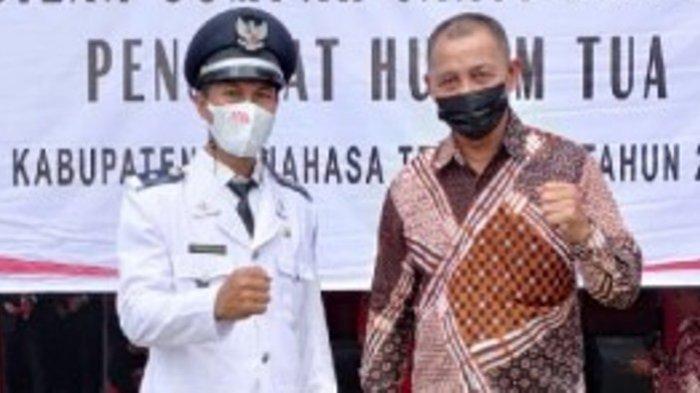 Suriady Ilolu Isi Posisi Hukum Tua Buku Selatan Minahasa Tenggara