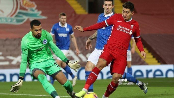 Hasil Liga Inggris Liverpool vs Brighton, The Reds Gagal Jalankan Dua Misi, Terpaksa Turun Peringkat