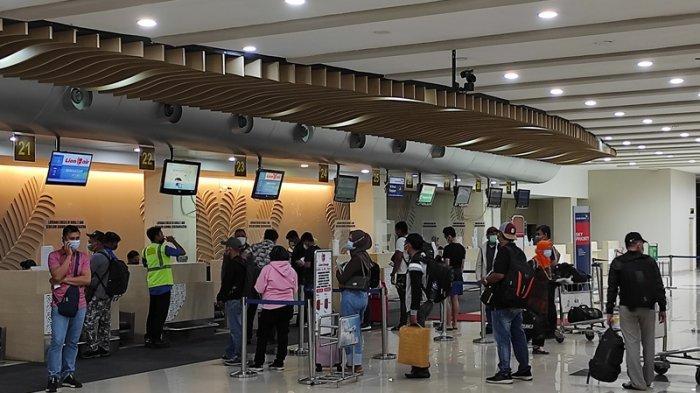 Sepekan Pasca-Larangan Mudik, Angka Penumpang di Bandara Samrat Manado Kembali Normal