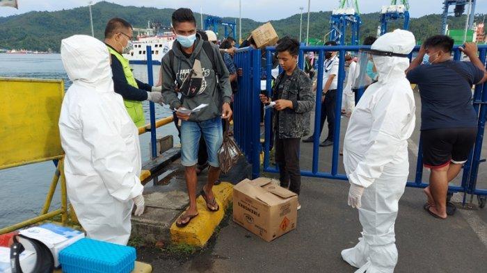 Di Pelabuhan Bitung Masih Ditemukan Penumpang Lalai Protokol Kesehatan