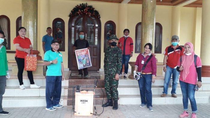 Sejumlah Fasilitas Umum di Bolmong Diguyur Cairan Disinfektan