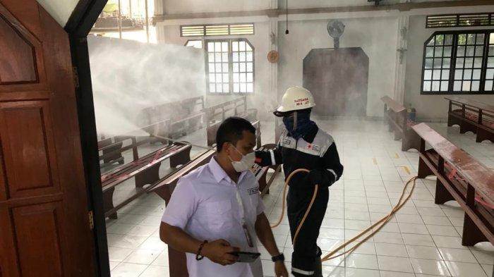 Ketua FKDM Edwin Moniaga Pimpin Penyemprotan Disinfektan, Besok di Kecamatan Tikala