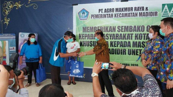 PT Agro Makmur Raya Bantu Warga di Tengah Pandemi Covid-19, Wali Kota Serahkan Secara Simbolis
