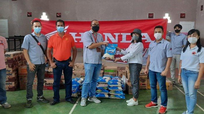 Peduli, Honda DAW Bawa Bantuan untuk Korban Bencana Banjir Minahasa Tenggara