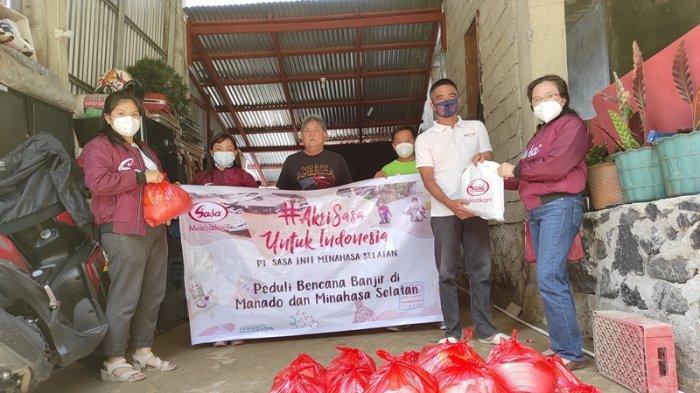 Peduli, PT Sasa Inti Minsel Bawa Bantuan untuk Korban Banjir Manado