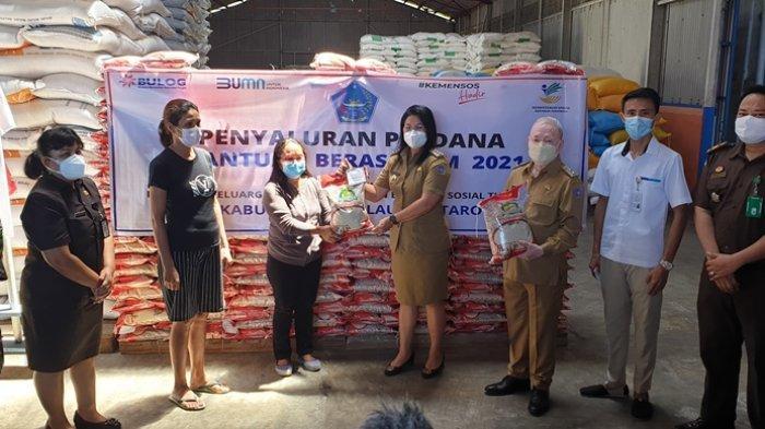 Bantuan Beras PPKM Mulai Disalurkan di Kabupaten Sitaro