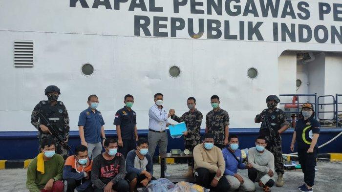 Barang Bukti Illegal Fishing Dijatuhkan ke Laut, Dua Kapal Filipina dan Malaysia Tertangkap