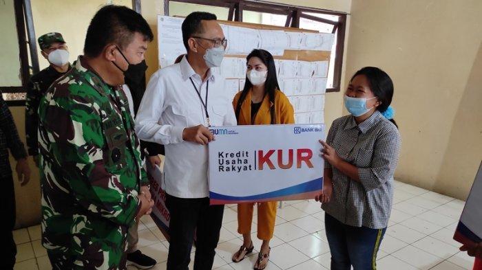 BRI Kanwil Manado Sinergi dengan TNI, Salurkan KUR dan BPUM ke Pelaku Usaha Mikro di Minut