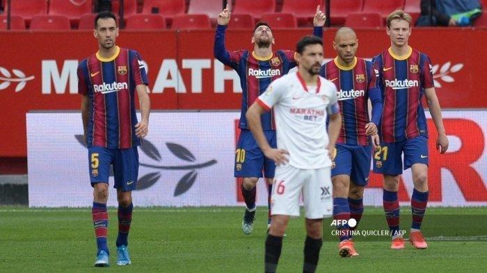 HASIL Liga Spanyol, Sevilla Dipecundangi, Barcelona Raih Poin Penuh, Messi Raih Torehan Impresif