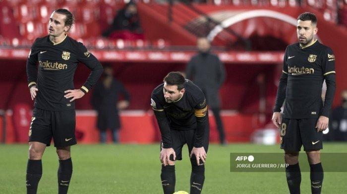 Hasil Liga Spanyol Pekan ke-18 Granada vs Barcelona, Magis Messi & Griezman Bawa Blaugrana Pesta Gol