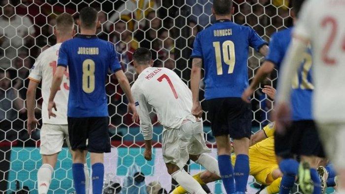 Gagal Bawa Spanyol ke Final EURO 2020, Alvaro Morata Jadi Pahlawan Lalu Pecudang, Italia Juara?