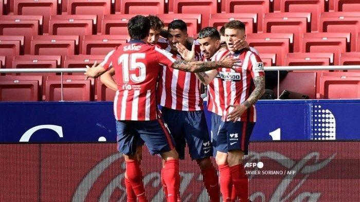 Hasil Liga Spanyol Atletico vs Real Madrid, Suarez Cetak Gol Keunggulan, Benzema Selamatkan El Real
