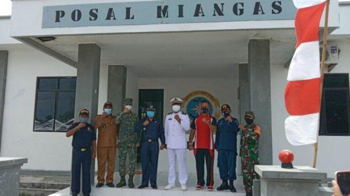 TNI Angkatan Laut di Posal Miangas Kabupaten Talaud Rayakan HUT ke-76