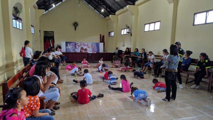 Perayaan Paskah dan Hari Anak GMIM Wilayah Kalawat I Meriah Diikuti Ratusan Anak Sekolah Minggu