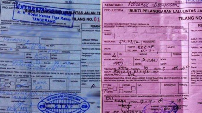 Perbedaan SuratTilang Biru dan Merah, Berikut Cara Mengurus dan Besaran Dendanya!