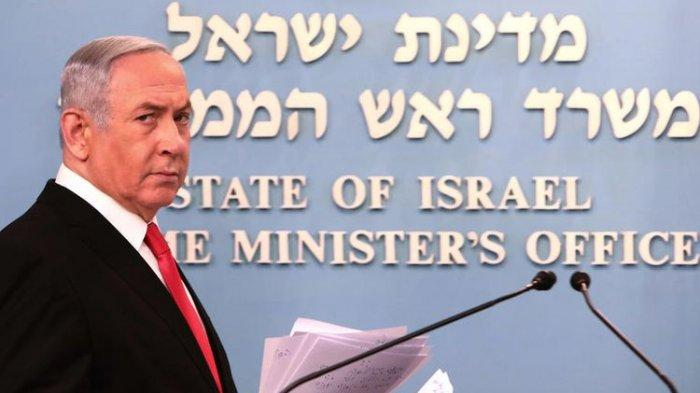 Mantan Perdana Menteri Israel, Benjamin Netanyahu, memberikan pidato terkait langkah-langkah yang akan ditempuh Israel dalam memerangi virus corona. Pidato bertempat di Yerusalem, Sabtu (14/3/2020).