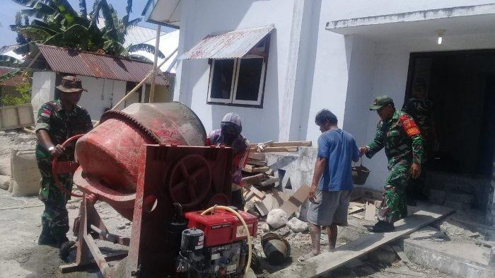 Pererat Kebersamaan dan Toleransi, TNI Bantu Warga Membangun Gedung Ibadah di Pulau ini