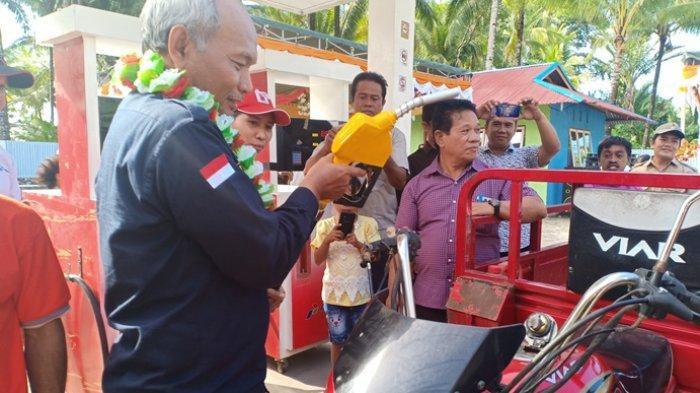 Program BBM Satu Harga, Pemerintah Resmikan 3 SPBU Kompak di Talaud Sulawesi Utara