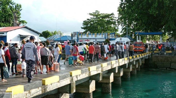 Pada Kamis (6/5/2021), nampak pergerakan kekuatan 3 tim dari Lanal Melonguane bergerak menuju tiga pelabuhan.