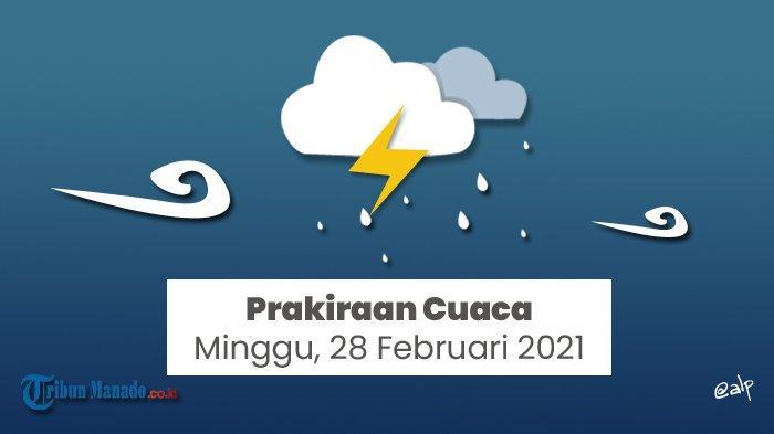 Peringatan Dini BMKG Hari Minggu 28 Februari 2021, Cuaca Buruk Berpotensi Terjadi di 23 Wilayah