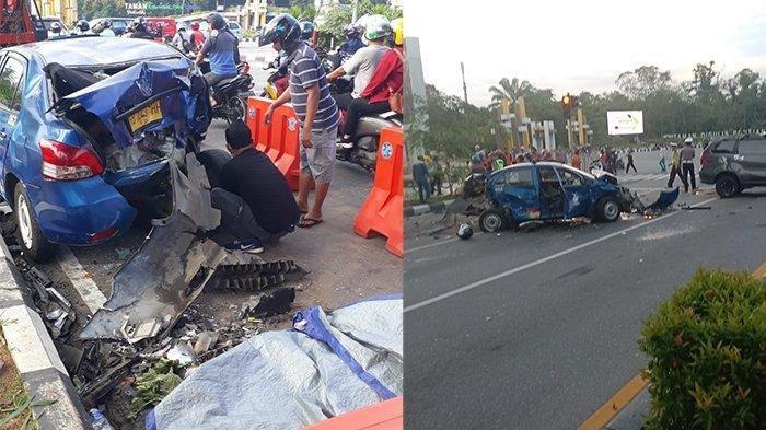 Kecelakaan Maut Tadi Pagi Pukul 06.00 WIB, Seorang Perempuan Tewas, Tabrakan 2 Mobil dan 2 Motor