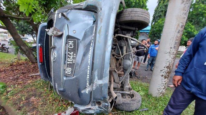 Peristiwa kecelakaan lalu lintas (Lakalantas) di Jalan Wolter Monginsidi Madidir Bitung.