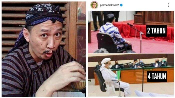 Hukuman Ahok 2 Tahun dan Rizieq 4 Tahun Diungkit Abu Janda: Karma Itu Memang Suka 2 Kali Lipet