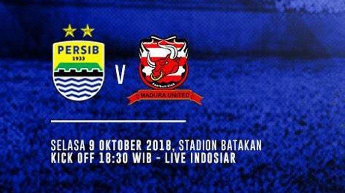Live Streaming Indosiar-Vidio.com, Persib Bandung Vs Madura United Pukul 18.30 WIB