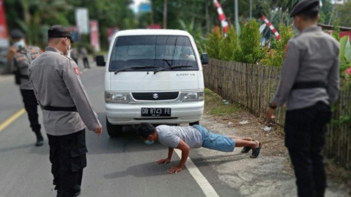 Operasi Yustisi di Likupang Timur, Tak Pakai Masker Push Up 25 Kali