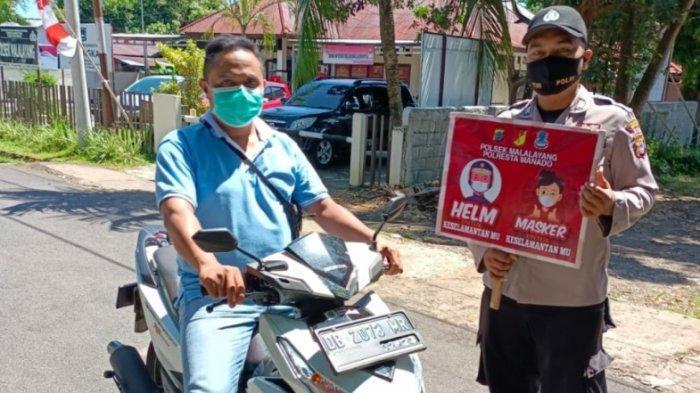 Operasi Yustisi Polsek Malalayang Manado, Puluhan Pelanggar Prokes Diamankan