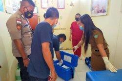 Polsek Tabukan Selatan Ikut Antar Vaksin Covid-19 ke Tiga Kecamatan di Sangihe