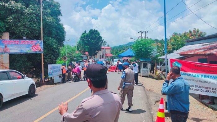 BREAKING NEWS - Puluhan Personil Gabungan Dikerahkan Jaga Perbatasan Sulut-Gorontalo