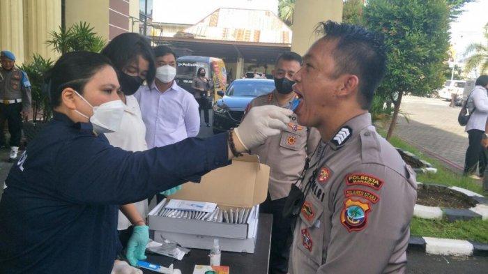 Kapolres Manado Apresiasi Seluruh Anggotanya yang Terbukti Negatif Narkoba