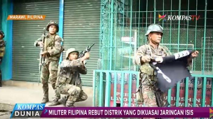 Pertempuran melawan jaringan kelompok ISIS di kota Marawi terus berlangsung militer Filipina merangsek ke sejumlah distrik.