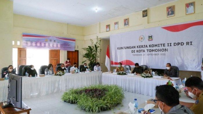 Pemkot Tomohon Lakukan Pertemuan Bersama Komite II DPD RI, Bahas Pengembangan Tanaman Hias
