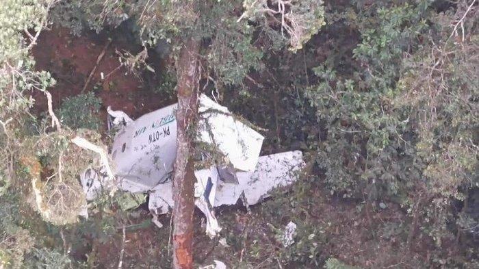 Pesawat <a href='https://manado.tribunnews.com/tag/rimbun-air' title='RimbunAir'>RimbunAir</a> jatuh di wilayah Gunung Wabu, Intan Jaya, Papua.