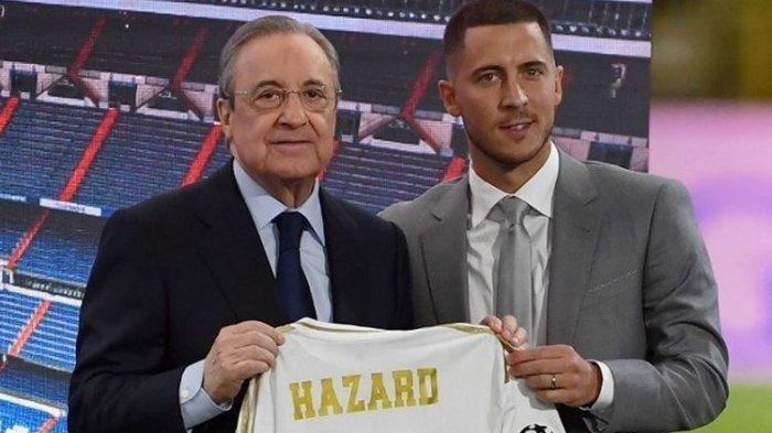 50 Ribu Fan Real Madrid Padati Perkenalan Eden Hazard di Barnabeu