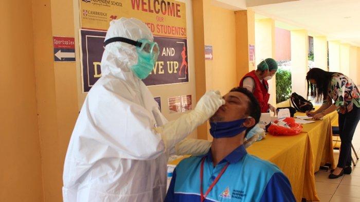 Peserta diwajibkan di swab test antigen sebelum mengikuti Webinar MIS